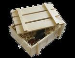 Ящик для вина с крышкой и опилками