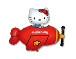 Hello Kitty на самолете 35 см