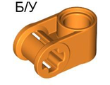 ! Б/У - Technic, Axle and Pin Connector Perpendicular, Orange (6536 / 4173600 / 6135088) - Б/У
