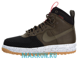 Nike Lunar Force 1 Duckboot Black/Dark Loden-Bright Crimson-Gum Light Brown