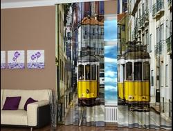 Фотошторы Желтые трамвайчики