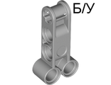 ! Б/У - Technic, Axle and Pin Connector Perpendicular Double 4L, Light Bluish Gray (98989 / 4652234) - Б/У