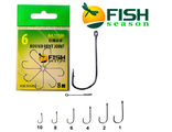 Крючок FishSeason Round Bent Joint 11100 №2 (10уп. по 8шт)