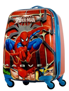 Детский чемодан на 4 колесах Человек-Паук Супергерои Марвел / Spider-Man Marvel - красный 3