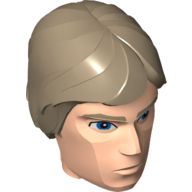 Large Figure Head Modified SW Luke Skywalker Pattern, Light Flesh (22373pb01 / 6123895)