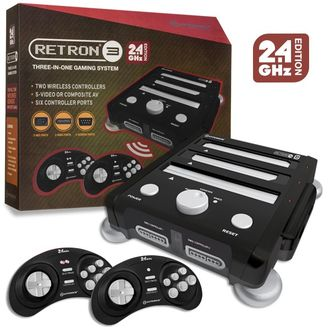 Обновленный Retron 3 (NES, SNES, SEGA) 2.4 GHz Edition (Onyx Black)