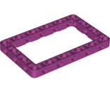 Technic, Liftarm 7 x 11 Open Center Frame Thick, Magenta (39794 / 6252663)