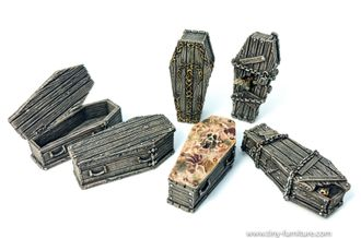 Coffins (painted)