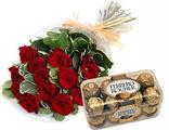 13 роз + Конфеты Фереро Роше