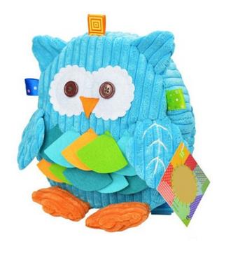 Детский рюкзак для девочки сова голубой Sozzy