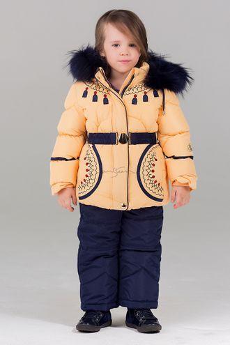 Билеми (Bilemi) - зимняя верхняя одежда для детей арт 316580 зима 2016-17  крем фронт