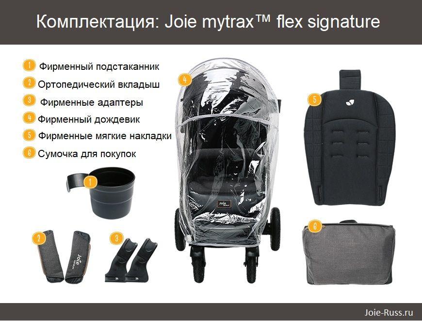 Joie mytrax™ flex signature прогулочная коляска Комплектация