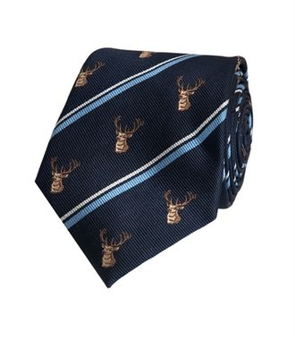 Галcтук HAWES & CURTIS Men's Navy Country Stag Stripe