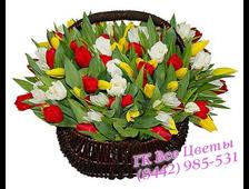 49 Тюльпанов в корзине