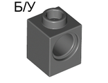 ! Б/У - Technic, Brick 1 x 1 with Hole, Light Gray (6541 / 654102) - Б/У