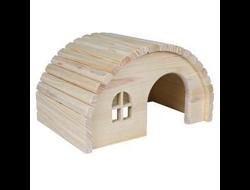 Trixie домик полукруглый для грызунов, дерево (д/хомяков и морских свинок)