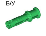 ! Б/У - Technic, Pin 3L with Friction Ridges Lengthwise and Stop Bush, Green (32054 / 4140803) - Б/У