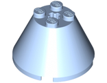 Cone 4 x 4 x 2 with Axle Hole, Bright Light Blue (3943b / 6056240)