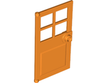 Door 1 x 4 x 6 with 4 Panes and Stud Handle, Orange (60623 / 6209675)