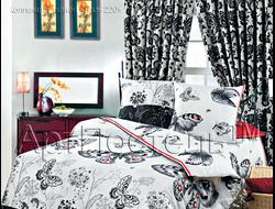 БАБОЧКИ.  Комплект постельного белья из набивной бязи традиции текстиля, цельнокройное, хлопок 100%