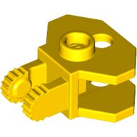 Hinge 1 x 2 Locking with 2 Fingers and Towball Socket, Yellow (30396 / 4163290 / 6146964)
