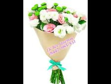Букет из Хризантемы, роз и Альстромерии Фиеста