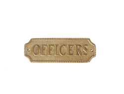 "Табличка ""Officers"""