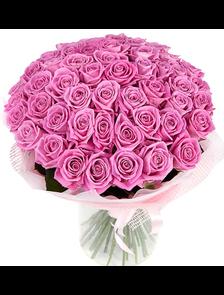 Розовый восторг (51 роза)