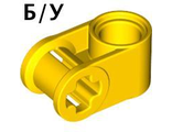 ! Б/У - Technic, Axle and Pin Connector Perpendicular, Yellow (6536 / 4107078 / 4173666) - Б/У