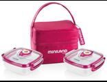 Термосумка с 2 вакуумными контейнерами Miniland Pack 2 Go Hermifresh Розовая