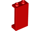 Panel 1 x 2 x 3 with Side Supports - Hollow Studs, Red (87544 / 4655549 / 6249891)