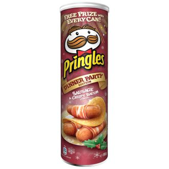 "Чипсы ""Pringles Dinner Party Edition Sausage & Crispy Bacon"""