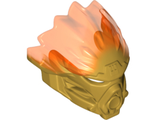 Bionicle Mask of Fire Unity with Marbled Trans-Neon Orange Pattern, Pearl Gold (24148pb02 / 6134991)