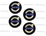 Наклейки на колпачки Volvo чёрные 60 мм
