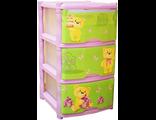 Пластиковый детский комод Bears Tutti розовый