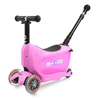 Самокат MICRO Mini 2Go Deluxe Plus розовый