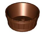 Container, Barrel Half Large with Axle Hole, Reddish Brown (64951 / 4541875)