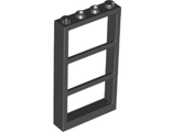 Window 1 x 4 x 6 Frame with 3 Panes, Black (57894 / 4507542 / 6126103)