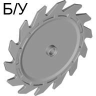 ! Б/У - Technic Circular Saw Blade 9 x 9 with Pin Hole, Light Bluish Gray (61403 / 4521897) - Б/У