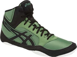 борцовки Asics Snapdown 2 cedar green/black J703Y wrestling shoes фото зеленые