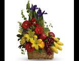"""Корзина с цветами и фруктами """"Витамин"""""""
