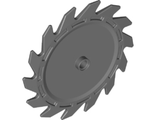 Technic, Circular Saw Blade 9 x 9 with Pin Hole and Teeth in Same Direction, Dark Bluish Gray (61403 / 6215042)