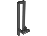Vehicle, Forklift Wide 1 x 2 Hinge Plate Locking with Rubber Belt Holder, Black (4518c / 6035530)