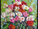 "Круглова Светлана ""Розы в сентябре"", холст / масло, 40 х 50 см., 2011 г."