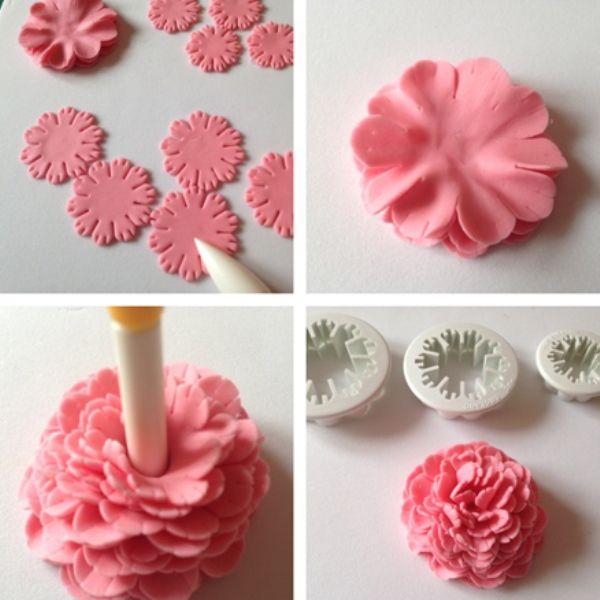 Цветы из мастики для начинающих мастер класс