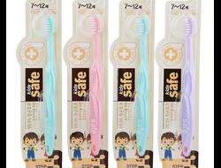 """Зубная щетка детская CJ Lion """"Kids Safe"""" с нано-серебряным покрытием №3 (от 7 до 12 лет), Пр-во: Корея"""