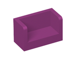 Panel 1 x 2 x 1 with Rounded Corners and 2 Sides, Magenta (23969 / 6131870 / 6248482)
