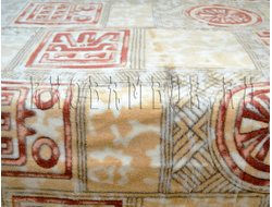 Плед из бамбука Символы терракотово-коричневые 190х220