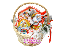 Новогодняя Подарочная корзина Новогодние сладости