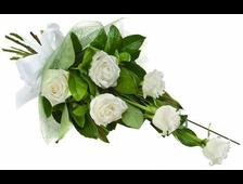 11 белых роз букет Сияние Нежности